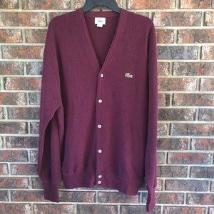 Vintage IZOD by Lacoste Acrylic Button Up Sweater